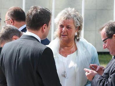 Eim Bild mit Symbolcharakter? Premierminister Xavier Bettel im Gespräch mit Ministerin Maggy Nagel beim Empfang der Europäischen Kommission in Kirchberg.