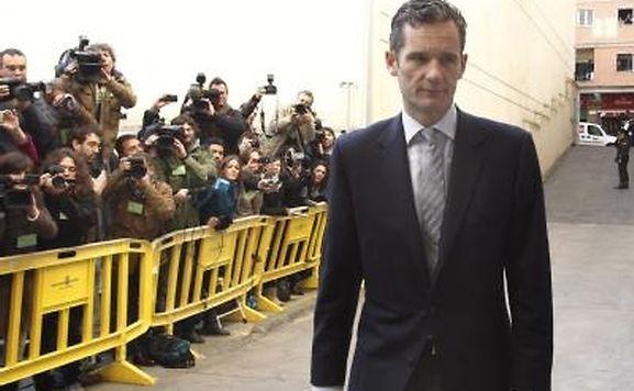 Inaki Urdangarin, der Ehemann der spanischen Prinzessin Christina, auf dem Weg zum Gericht. Foto: Ballesteros