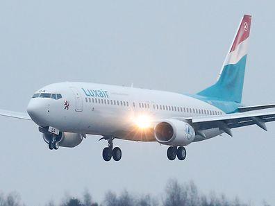 Die neue Maschine beim Überflug.