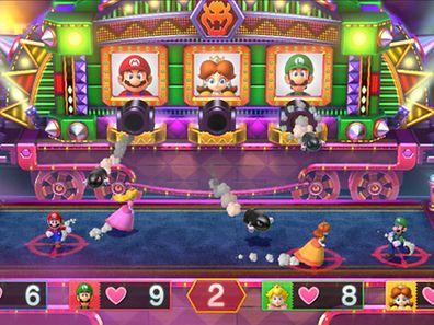 Zum Themendienst-Bericht von Christoph Lippok vom 24. M�rz 2015: �Mario Party 10� bietet viele kleine Spielchen mit Nintendos Charakteren. Der Titel ist ab sechs Jahren freigegeben. (ACHTUNG - HANDOUT - Nur zur redaktionellen Verwendung im Zusammenhang mit dem genannten Text und nur bei vollst�ndiger Nennung der Quelle. Die Ver�ffentlichung ist f�r dpa-Themendienst-Bezieher honorarfrei.)  Screenshot: Nintendo