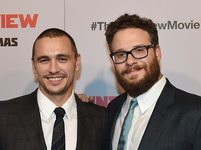 "James Franco (l.) and Seth Rogen play the leads in controversial Sony picture ""The Interview"""