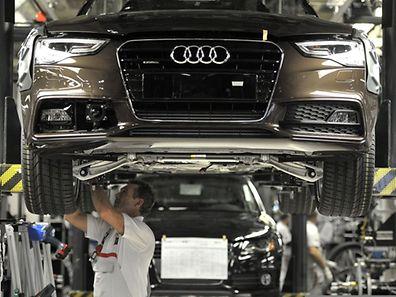 Der A4 ist das meistgebaute Auto von Audi.