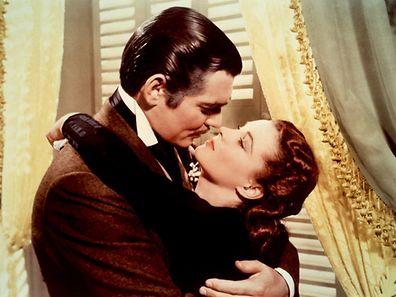 """Die Stars von """"Vom Winde verweht"""": Vivien Leigh (r.)  und Clark Gable"""