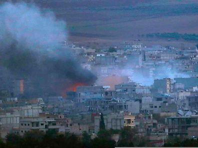 Die heftigen Kämpfe um Kobane gehen weiter.