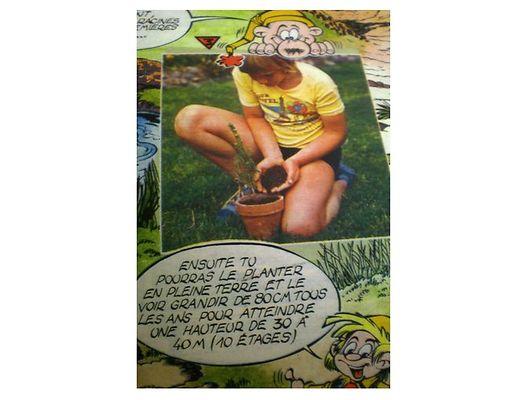 En 1975, Eric avait posé dans le magazine pour illustrer les explications nécessaires à la plantation