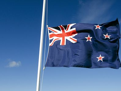The current New Zealand flag, which could be dropped in favour of the silver fern