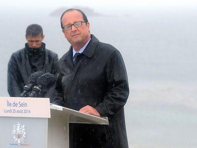A rather soggy François Hollande