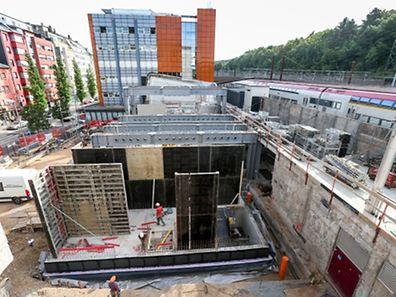 Suivi chantier gare à Esch  - Photo : Pierre Matgé