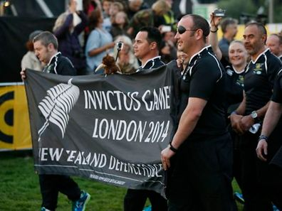 Members of the New Zealand team attend the opening ceremony of the Invictus Games