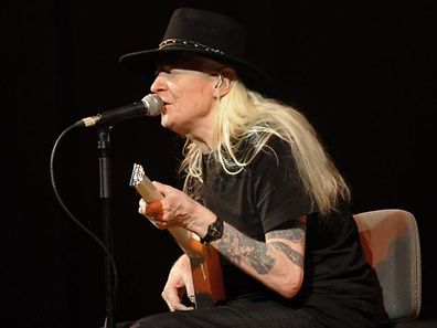 Johnny Winter performing at the XII Jazz Festival in Valencia's Palau de la Musica in 2008
