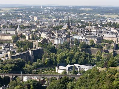 View of Luxembourg City
