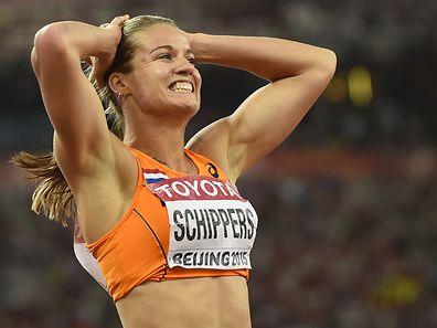 """Nach Silber über 100 m jetzt auch Gold im """"Vogelnest"""" von Peking: Dafne Schippers."""
