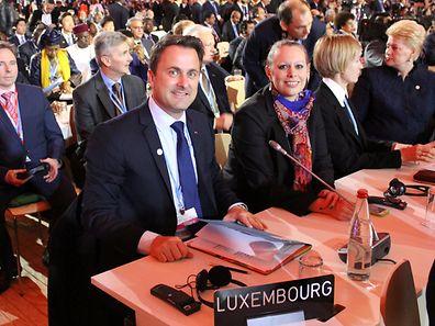 Xavier Bettel, Premier ministre, ministre d'Etat et Carole Dieschbourg, ministre de l'Environnement.