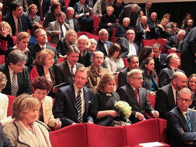 Feierliche Gedenkzeremonie in der Philharmonie für die Holocaust-Opfer.