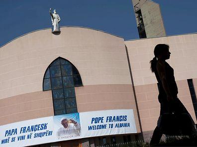 Une église catholique à Tirana, le 19 septembre 2014