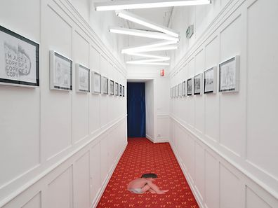 The hallway at Ca' Del Duca - the entrance to the pavilion
