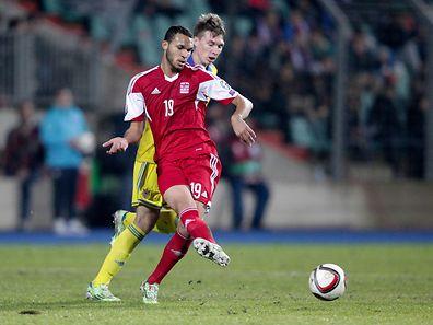 Dwayn Holter hat sich im EM-Qualifikationsspiel gegen die Ukraine am Sprunggelenk verletzt.
