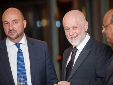 Luxembourg Economy Minister Etienne Schneider (left) with Amcham Chairman Paul Schonenberg