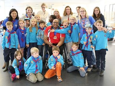 Telstar International Beavers with athlete Gobi Ranganathan