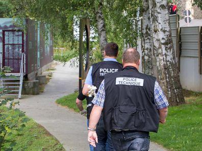 Die Polizei untersuchte am Mittwoch den Fundort der Leiche.