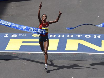 Rita Jeptoo triumphierte im April 2014 beim Marathon in Boston.