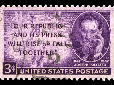 Newspaper publisher Joseph Pulitzer gave money in his will to Columbia University to launch a journalism school and establish the Prize