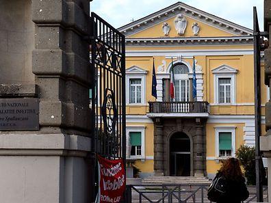 Das Lazzaro-Spallanzani-Institut in Rom. Hier wird der Mann behandelt werden.