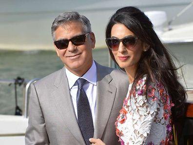George Clooney und seine Frau Amal Alamuddin.