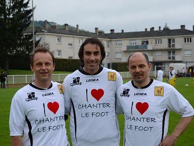 Marco Morgante, ici en compagnie de Robert Pires et Cyril Serredszum, pense que le FC Metz a le potentiel pour assurer dans de bonnes conditions son maintien parmi l'élite.