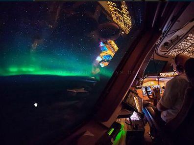 Ob der Flugkapitän die Polarlichter in ihrer ganzen Schönheit genießen konnte, ist nicht gewußt.
