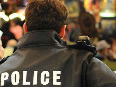 Polizist im Einsatz.