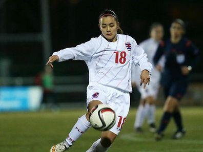 08 Fussball Testspiel der Frauen Nationalmannschaft gegen Albanien in Lintgen am 24.03.2015 Amy Thompson (18 FLF)