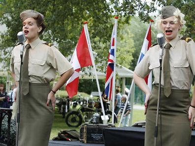 Singers from the Sgt. Wilson's Army Show at the 2013 Concours d'Elegance