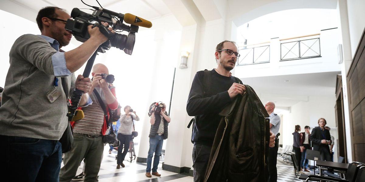 Antoine Deltour lors de son procès, à Luxembourg, le 11 mai.