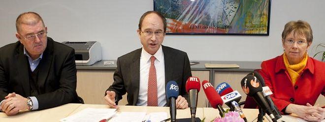 Generalvikar Erny Gillen (Mitte) stellte die Position der katholischen Kirche zum Verhältnis von Staat und Religionsgemeinschaften vor.