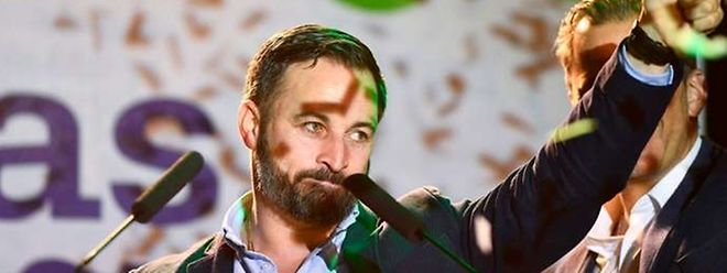 Santiago Abascal, leader du parti d'extrême droite Vox, à Madrid le dimanche 28 avril.