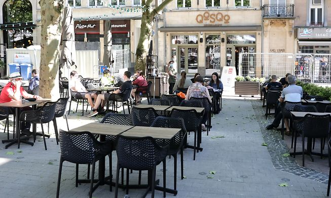 Restaurant QoSQo in the capital city's Place d'Armes