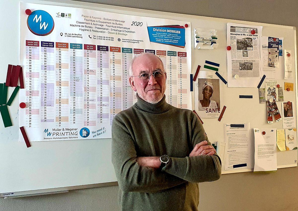Henri Besenius presidente da Assistência Social de Wiltz.