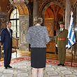 À cerimónia assistiram os pais do príncipe e a secretária de Estado da Defesa.
