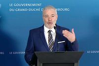 Politik, Pressekonferenz Dan Kersch, Romain Schneider, Foto: Guy Wolff/Luxemburger Wort