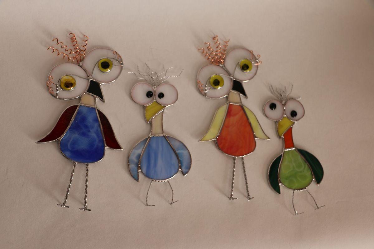 Vögel im Tiffany-Stil