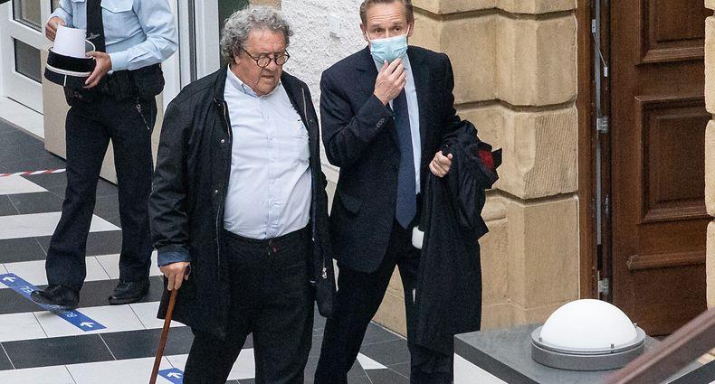 Gericht , Prozess Maitre Gaston Vogel , Leserbiref über rumänische Bettler , Me Prüm ( r.) Foto:Guy Jallay/Luxemburger Wort