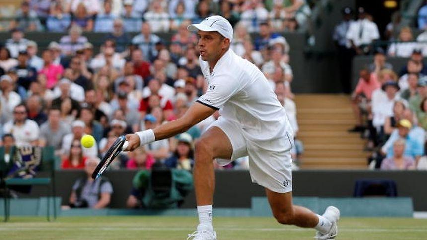 Gilles Muller stand im Viertelfinale von Wimbledon.