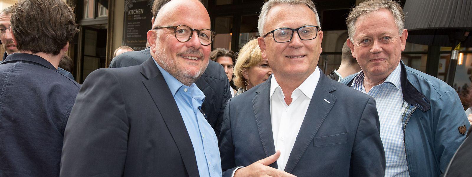 Marc Angel (r.) und Nicolas Schmit hatten gut lachen: Wenn alles nach Plan läuft, könnte Angel nachrücken, wenn Schmit in die Kommission wechselt.