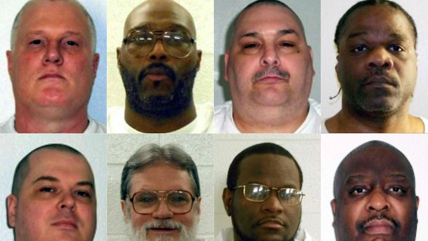 Arkansas will noch im April acht Häftlinge hinrichten. Ledell Lee (oben rechts) war der erste.