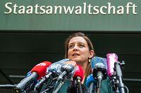 22.07.2020, Bayern, München: Anne Leidig, Oberstaatsanwältin der Staatsanwaltschaft München I, gibt eine einer Stellungnahme der Staatsanwaltschaft München I zu den neuesten Entwicklungen im Ermittlungsverfahren gegen Verantwortliche der Wirecard AG ab. Foto: Peter Kneffel/dpa +++ dpa-Bildfunk +++
