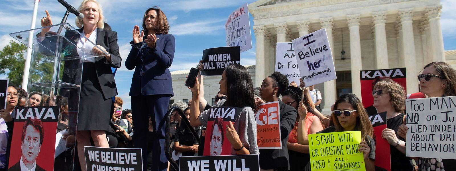 Die Proteste gegen eine mögliche Ernennung dauerten am Freitag an.