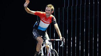 Frank Schleck (Trek Factory Racing) bei der Teamvorstellung der Tour de France 2014