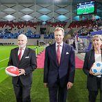 Fotos. Inauguração do novo Estádio do Luxemburgo com a presença do Grão-Duque