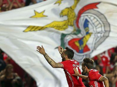 Mitroglou marcou dois golos no triunfo das 'águias' frente ao Braga